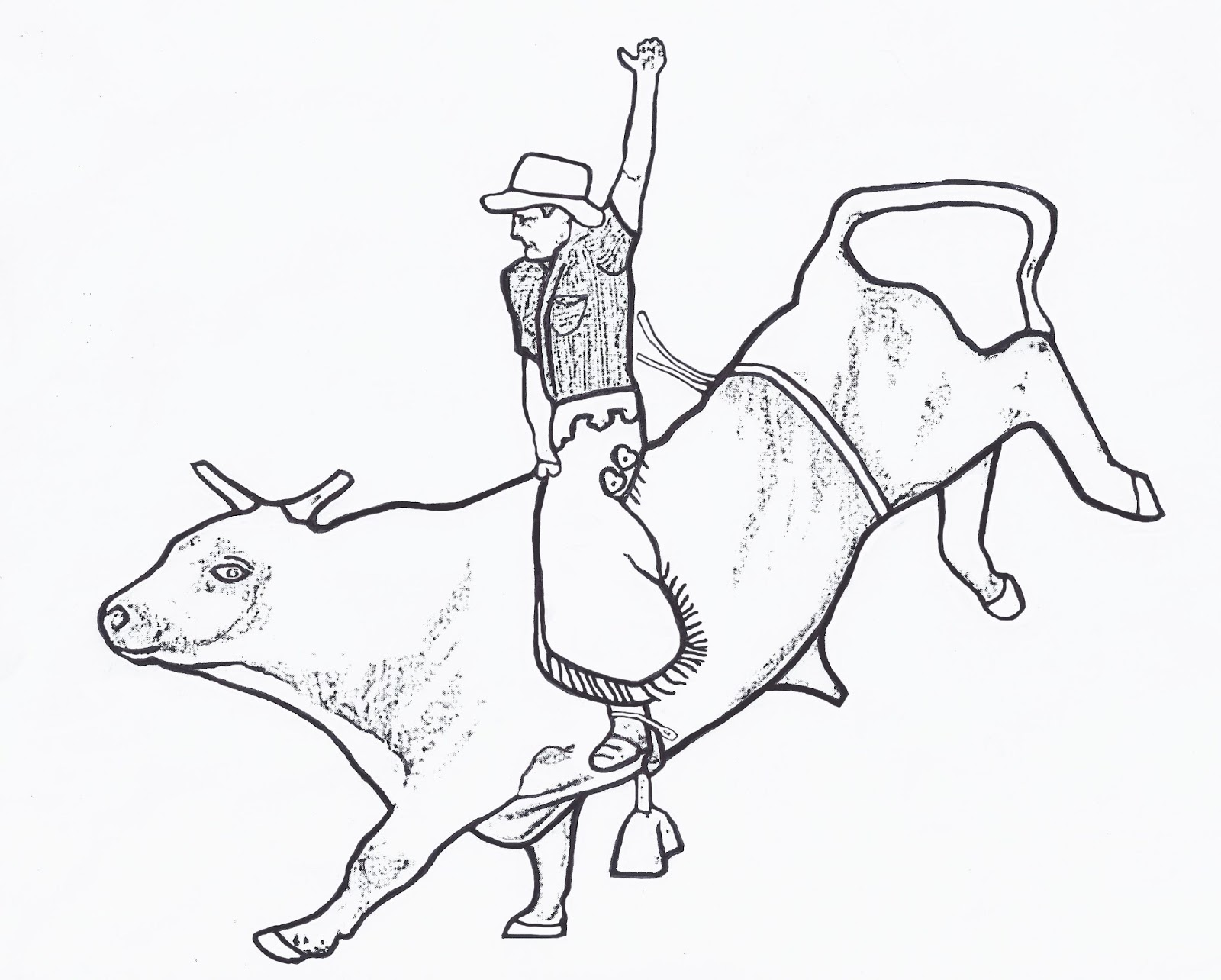 1600x1284 Bull Riding Coloring Pages