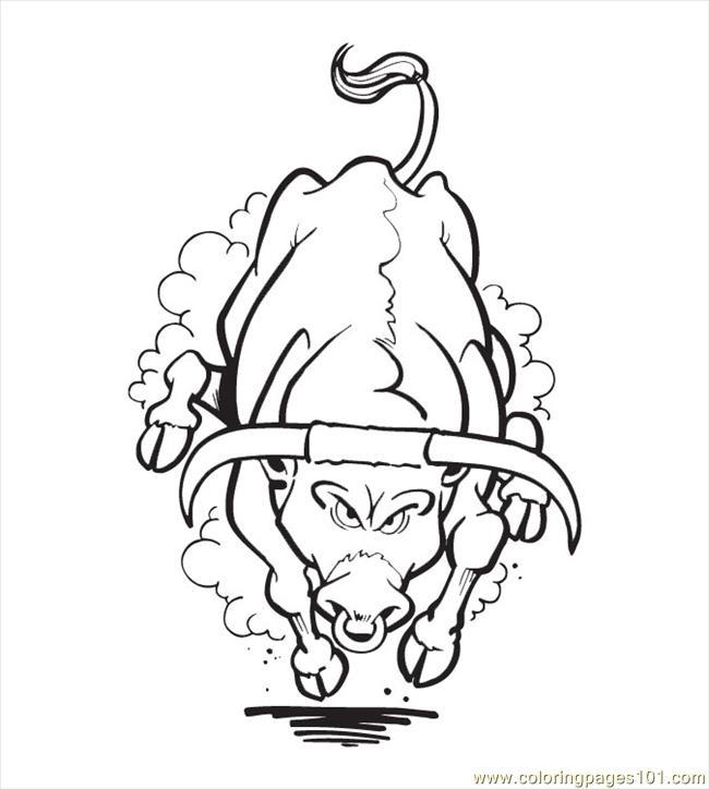 650x724 Printable Bull Coloring Pages Printable Bull Riding Coloring Pages