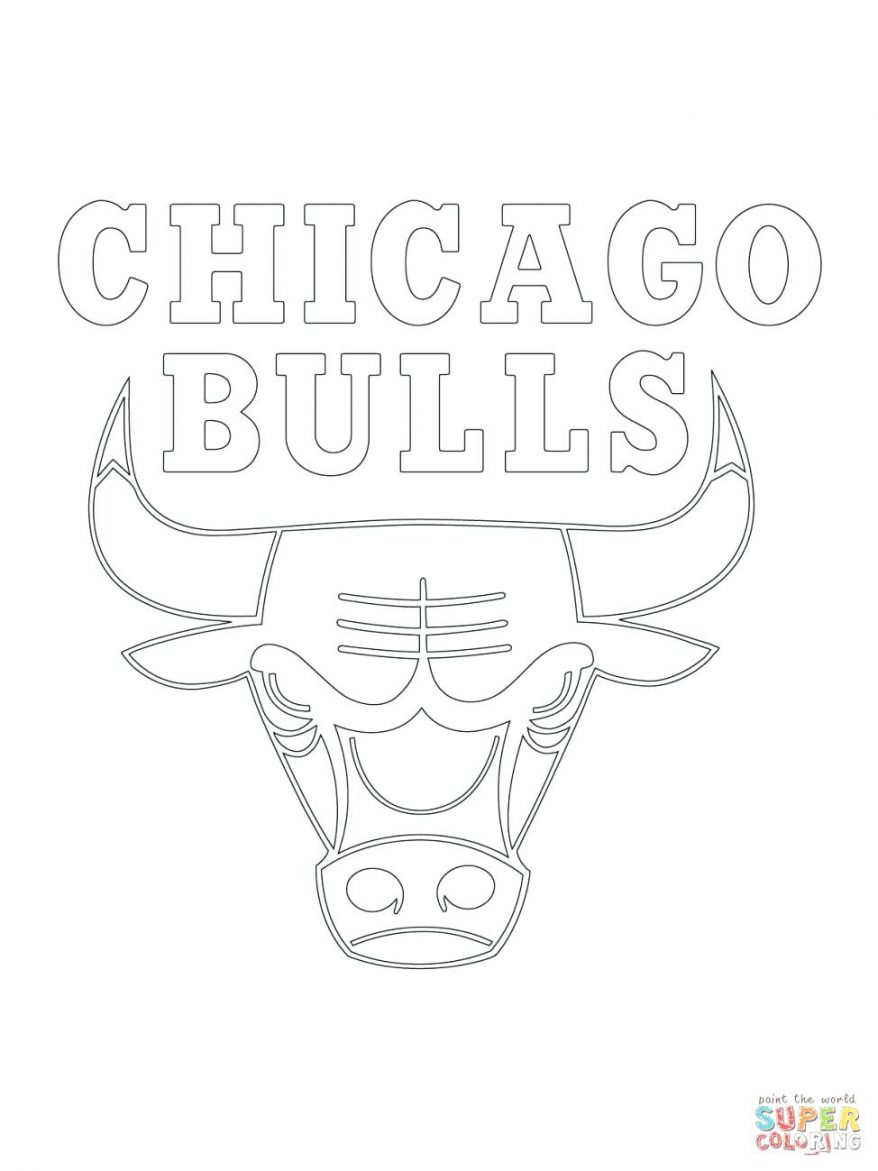 878x1171 Click The Bulls Logo Coloring 123 Exciting Chicago Color Sheet Why