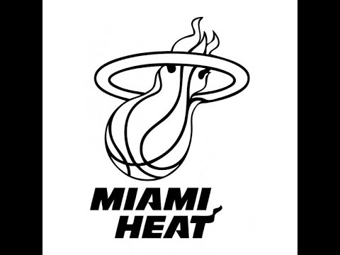 480x360 How To Draw The Miami Heat Logo (Easy)