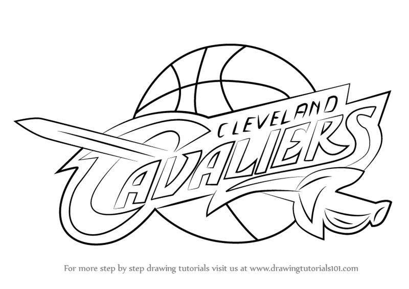 800x565 Learn How To Draw Cleveland Cavaliers Logo (Nba) Step By Step