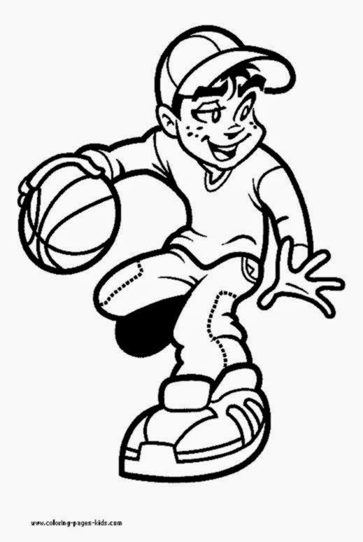 519x774 Bulls Logo Coloring Page: Basketball Coloring Sheets Free At Alzheimers-prions.com