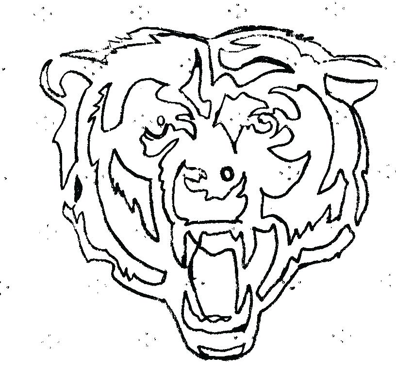 816x764 Chicago Bears Coloring Pages Bulls Coloring Pages Bears Logo Black