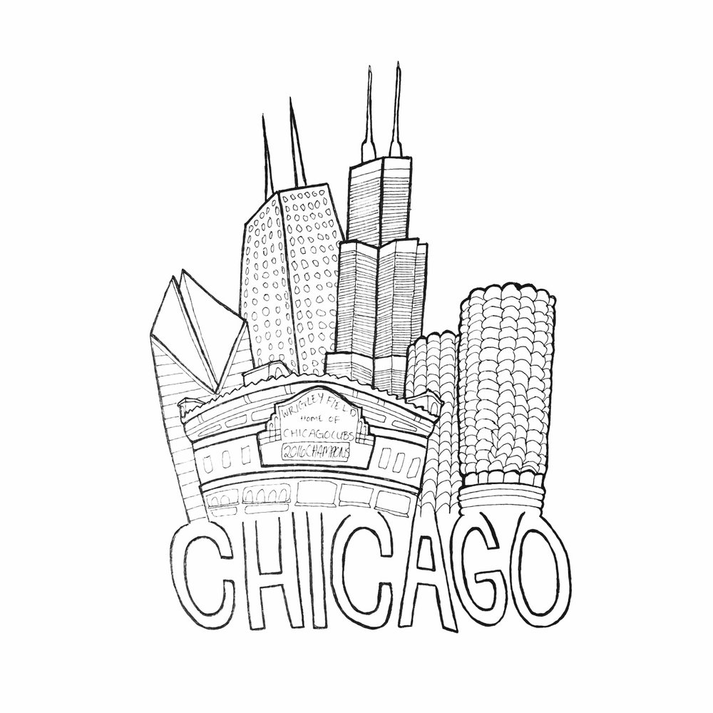 1000x1000 Chicago City Print That First Year