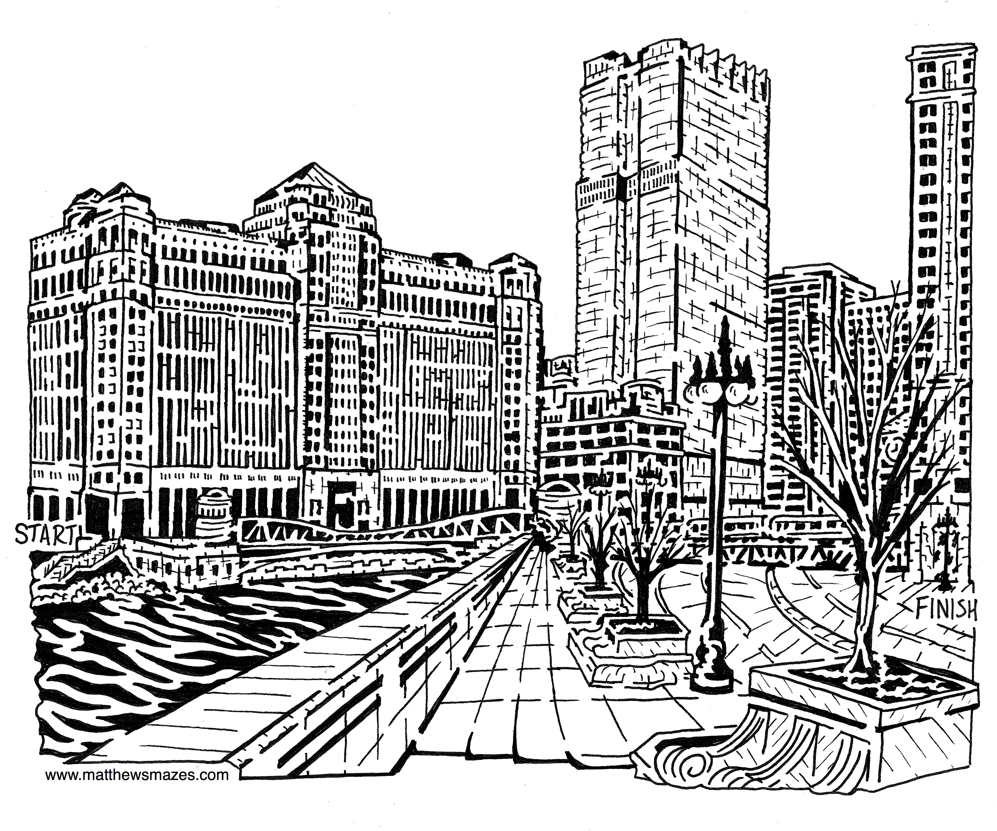 3188x2656 Chicago Mazes By Umatthewsmazes