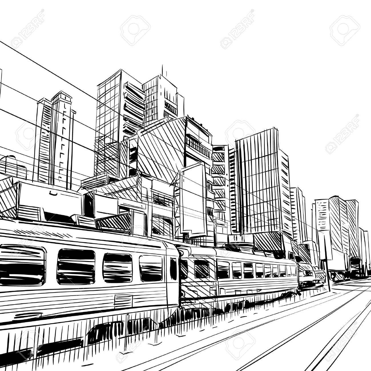 1300x1300 China City Sketch, Design. Illustration Royalty Free Cliparts