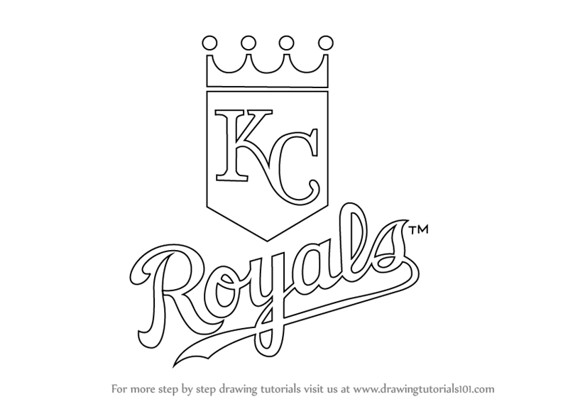 800x566 Learn How To Draw Kansas City Royals Logo (Mlb) Step By Step