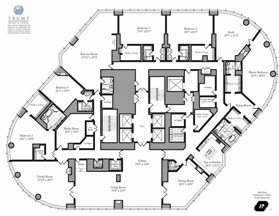 959x741 Uncategorized Trump Tower Chicago Floor Plan Notable For Finest