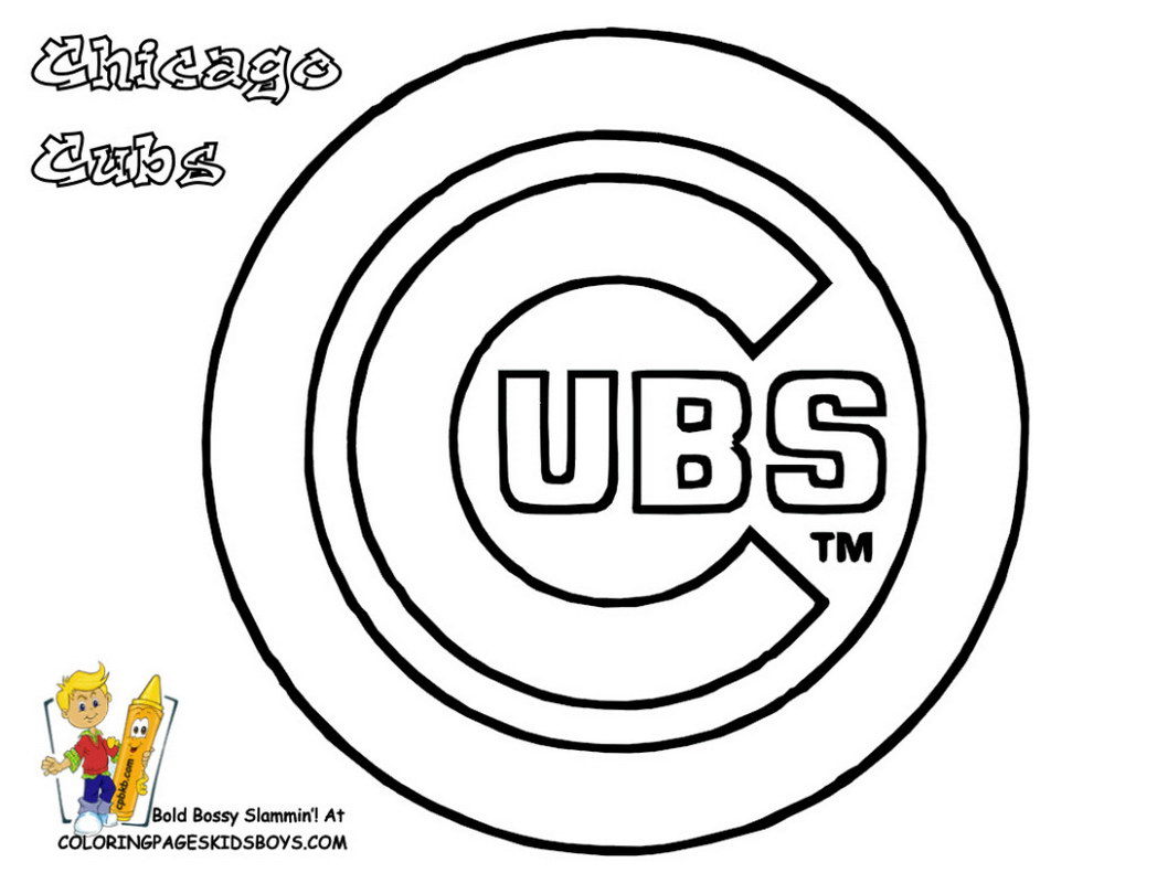 1048x810 Mlb Coloring Pages Free Best Of Chicago Cubs