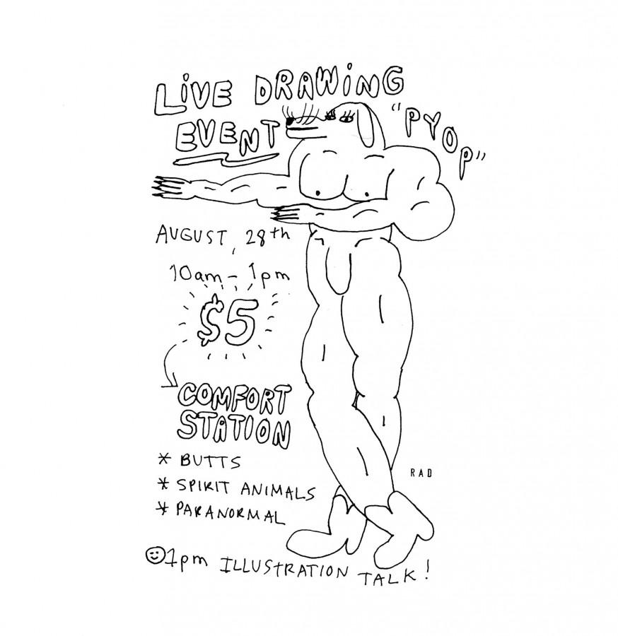 874x900 Comfort Society Presents Live Drawing By Rachal Duggan