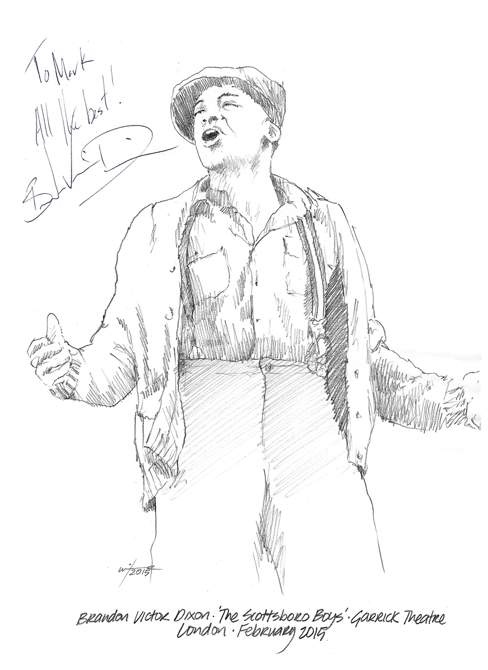 1000x1373 Drawing Brandon Victor Dixon In The Scottsboro Boys Chicanepictures
