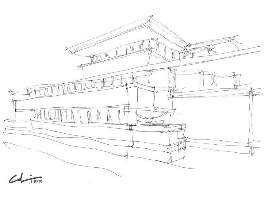 900x646 Chicago Architecture Drawings Fine Art America