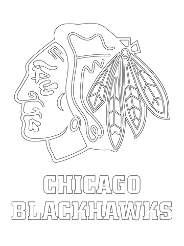360x480 Chicago Blackhawks Logo Coloring Page Free Printable Coloring Pages