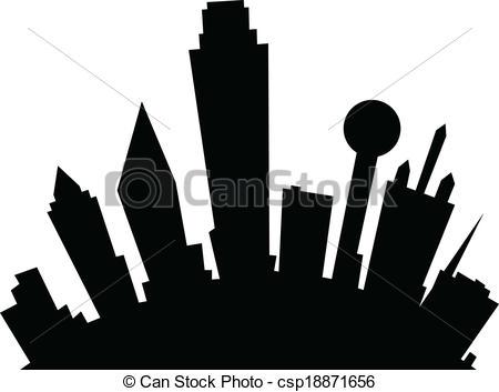 450x353 Dallas Skyline Clipart