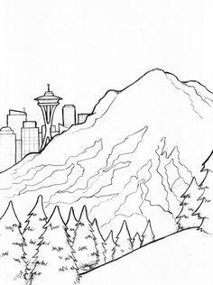 236x316 Seattle Skyline Outline