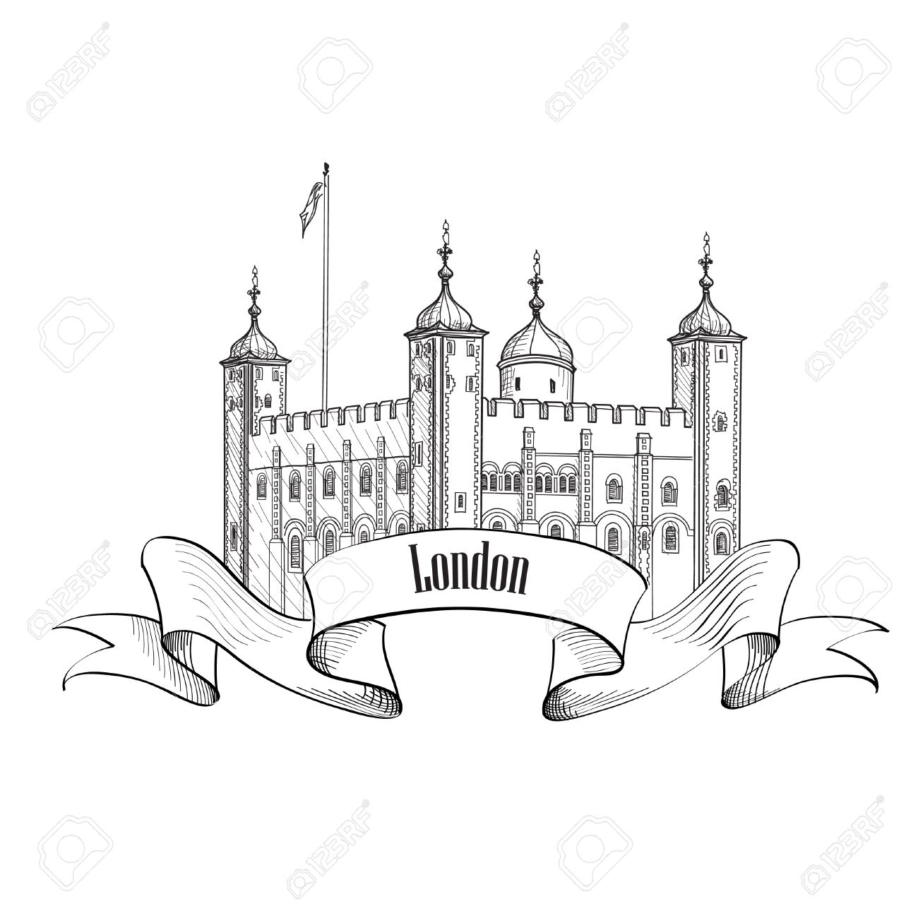 1300x1300 Tower Of London Famous Building London England Uk. London Symbol