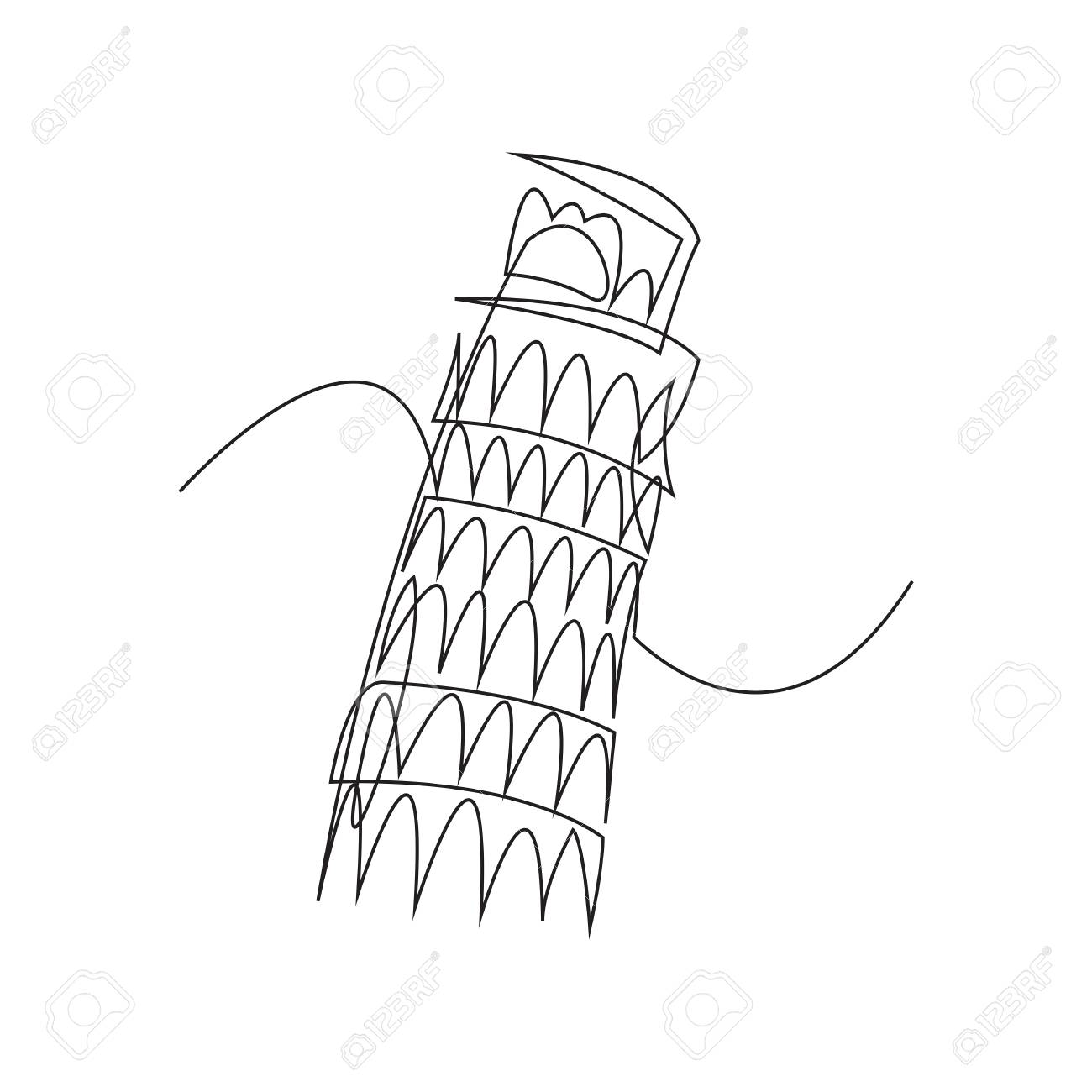 1300x1300 Leaning Tower Of Pisa