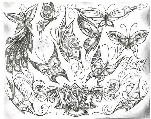 500x394 Chicano Tattoo Designs Tattoovoorbeeld Drawings