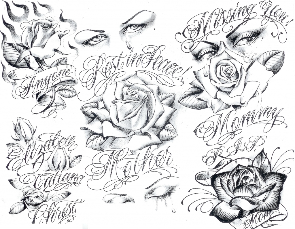 1024x796 Gangster Art Drawings Ink Sleeve On Tattoo Flash