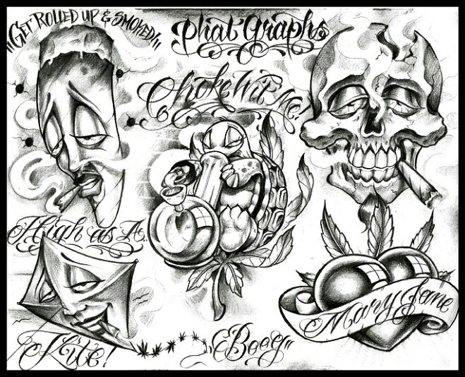 659x534 Smoking Skull Mixed Media Artwork, Drawings