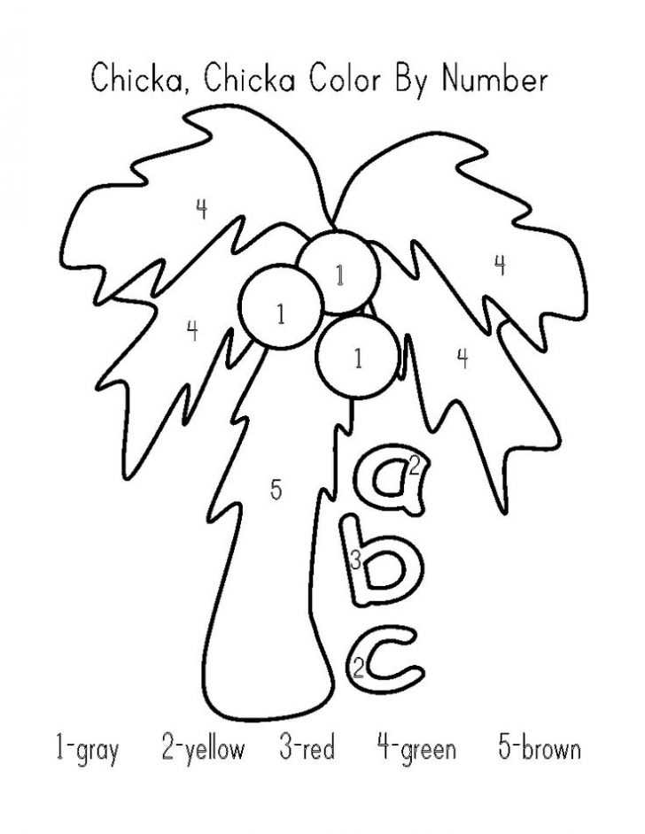 728x942 Chicka Chicka Boom Boom Coloring Pages