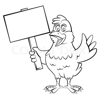 320x316 Cartoon Chicken With A Red Bandana Vector Clip Art Illustration