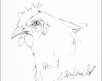 340x270 Chicken Coop Drawing Etsy