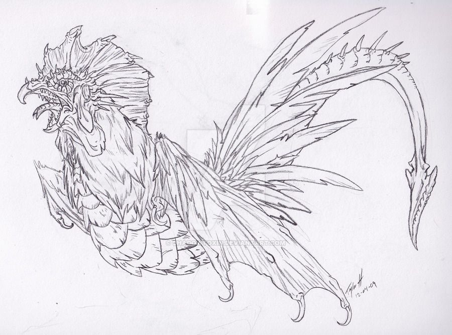 Chicken Drawing Images...