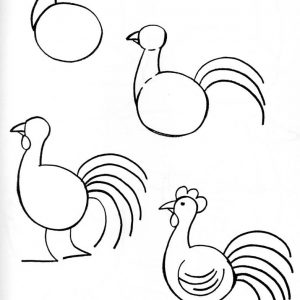 300x300 Adult Easy Chicken Drawing Easy Chicken Drawing. Easy Chicken