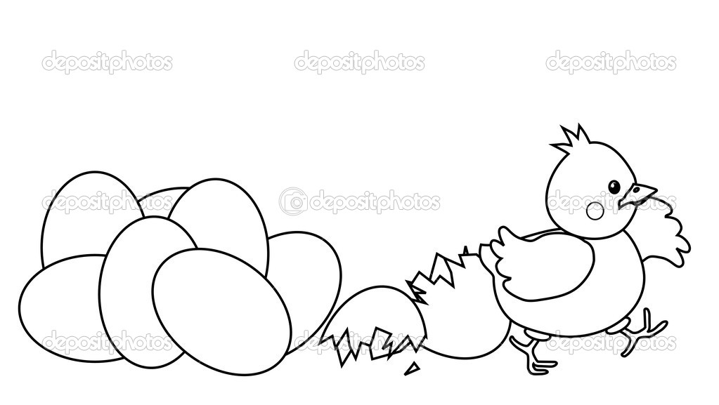 Chicken Drawing Outline at GetDrawings.com | Free for personal use ...