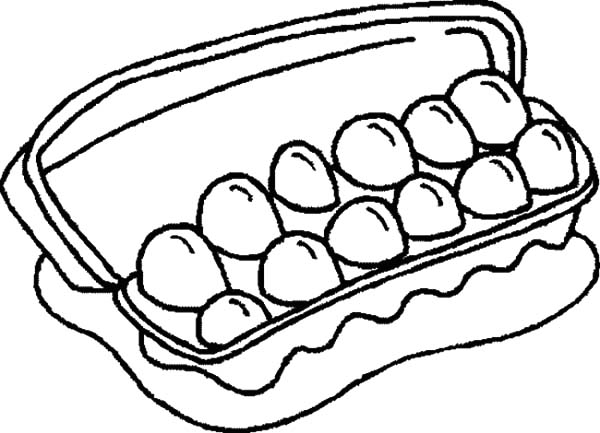 600x433 Dozen Of Chicken Egg Coloring Pages