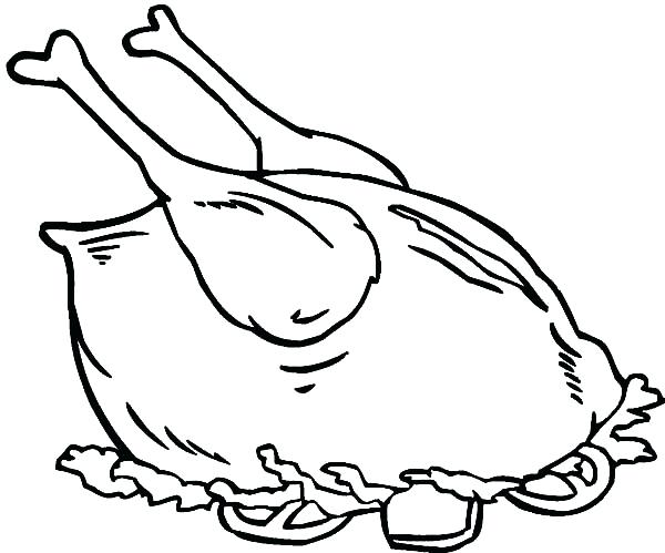 600x499 Chicken Leg Coloring Sheet