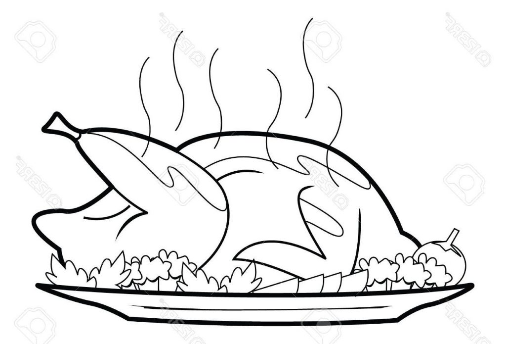 1024x695 Chicken Food Clipart Black And White