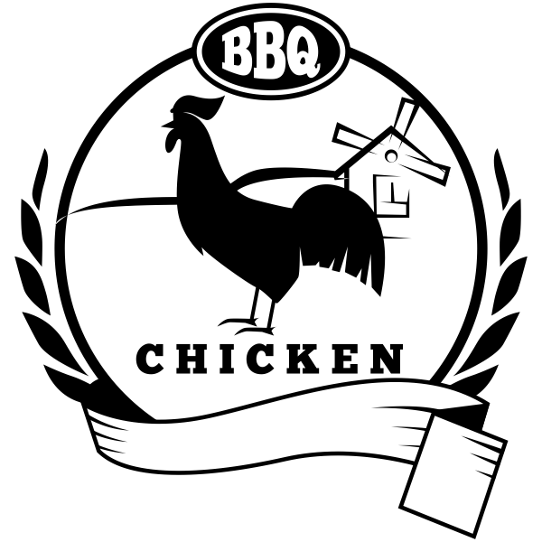 600x600 Bbq Chicken Food Packaging Rubber Stamp