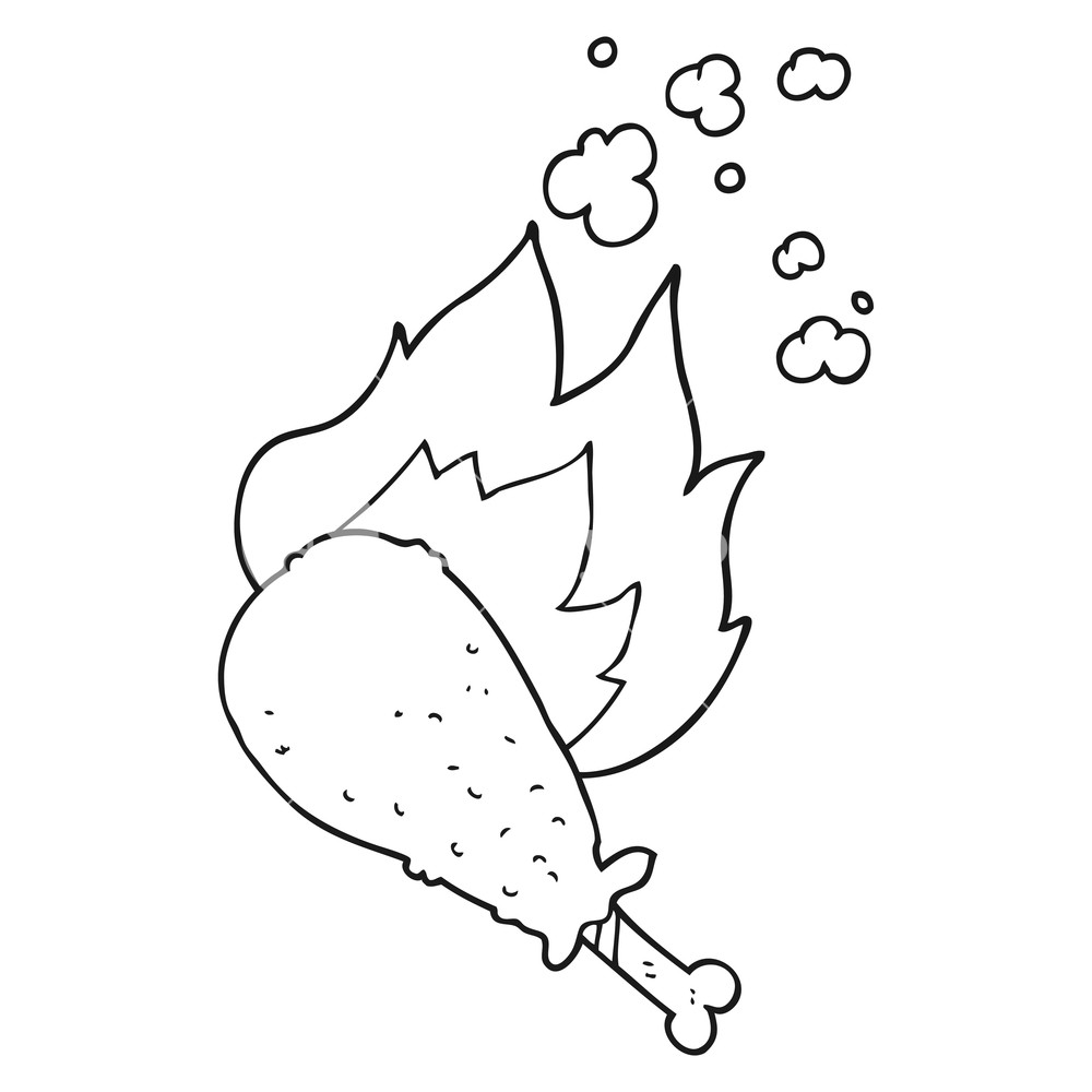 Chicken Leg Drawing at GetDrawings.com | Free for personal use ...