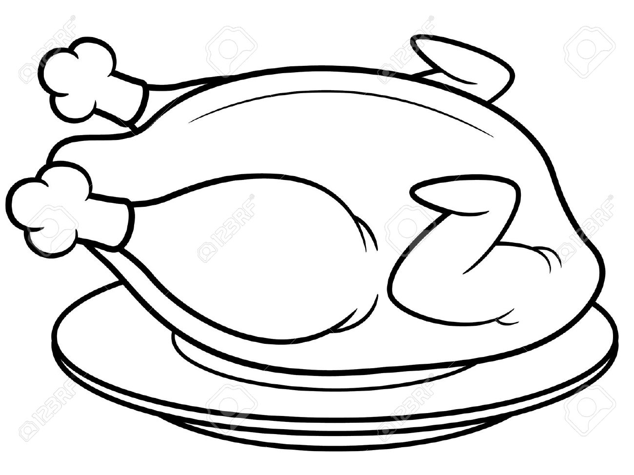 Chicken Wing Drawing At Free For Personal Use Detailed Diagram Of A 736x640 Drawn Wings Line 1300x974 Fried Clipart Black And White