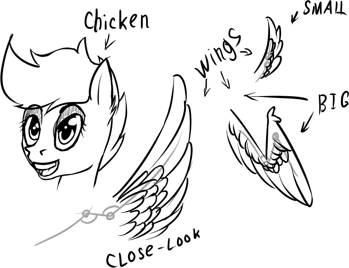 Chicken Wing Drawing At Free For Personal Use Diagram Have Primary Feathers 1183x909 Chickennwings Sketch By Starfall Spark