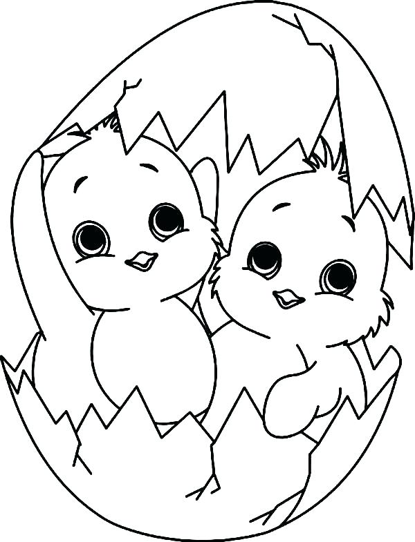 600x785 Chicks Coloring Pages Cute Baby Chick Coloring Page Girl Coloring