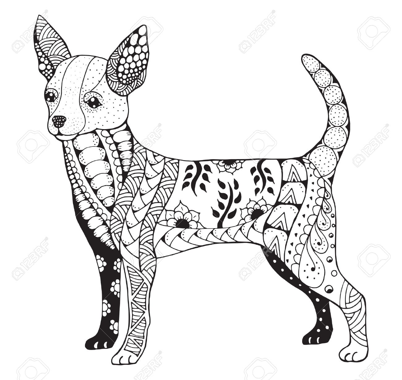 Chihuahua Dog Drawing at GetDrawings.com   Free for personal use ...