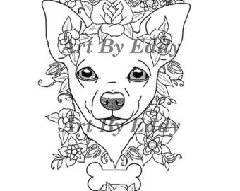 Chihuahua drawing at free for personal for Chihuahua coloring pages free