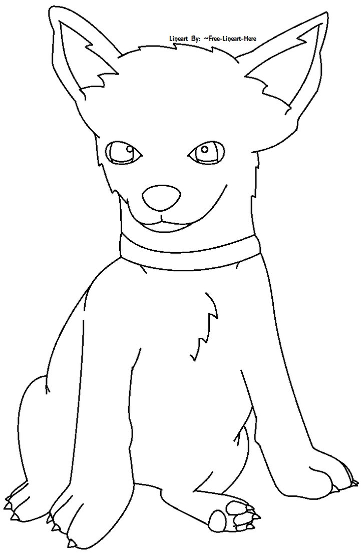 723x1105 Chihuahua Puppy Lineart By Free Lineart Here