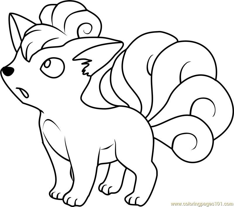 800x707 Vulpix Pokemon Coloring Page Embroidery Pinterest