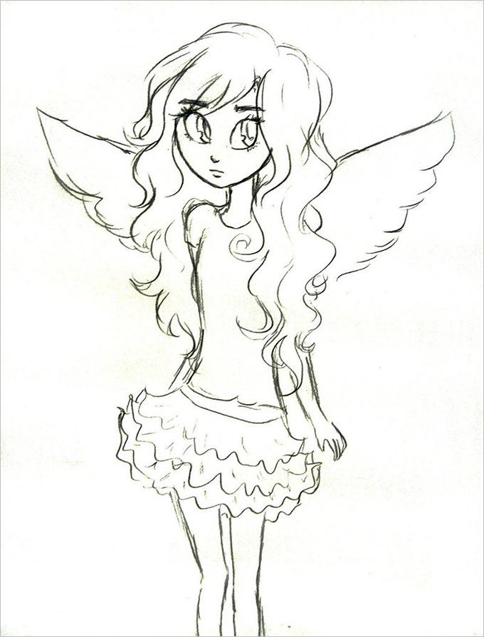 Child Angel Drawing
