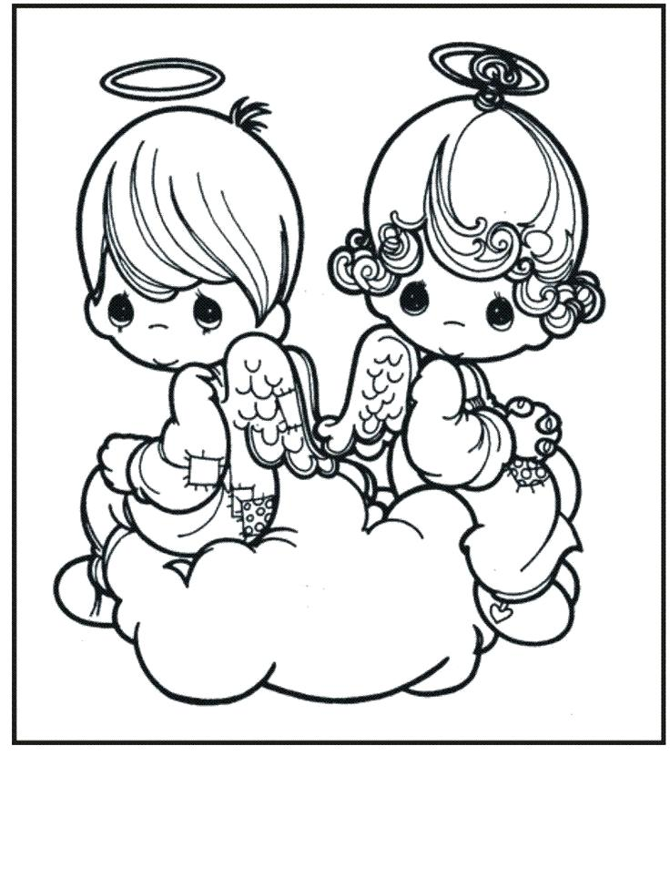 736x976 Baby Angel Coloring Pages Precious Moments Coloring Pages Precious