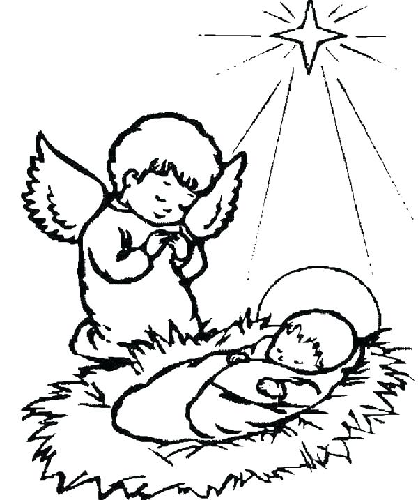 600x717 Baby Jesus Coloring Pictures Coloring Pages For Kids Printable