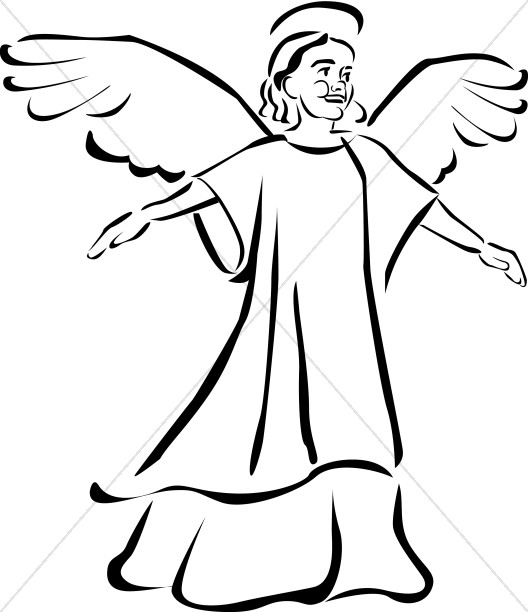 528x612 Child Angel Clipart Angel Clipart