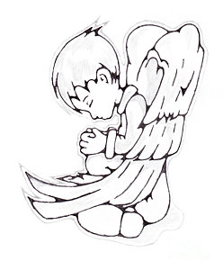 248x300 Child Angel Drawings
