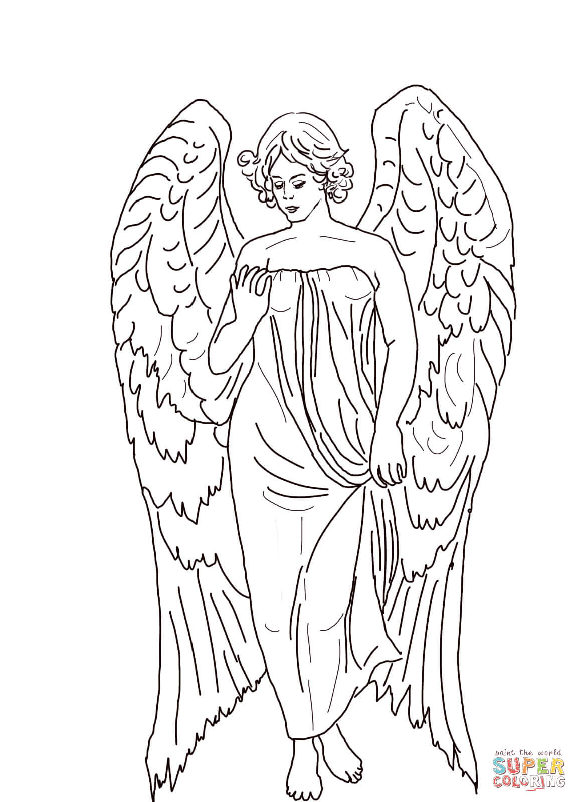 1151x1600 Guardian Angel Coloring Page Free Printable Coloring Pages