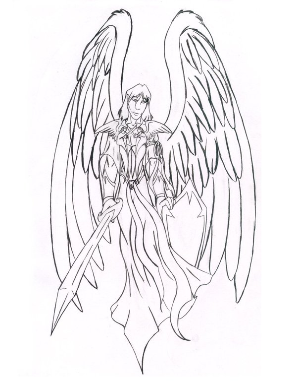 600x776 Guardian Angel Design By Necrochildk