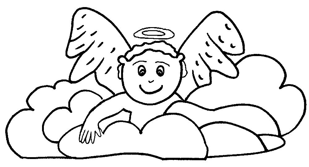 1000x542 Angel Coloring Pages For Preschool Coloring Page For Kids